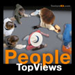 People Top Views - Personnages Vue d'oiseau - texture