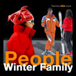 People Winter Family - Personnages Famille Sport d'Hiver - texture